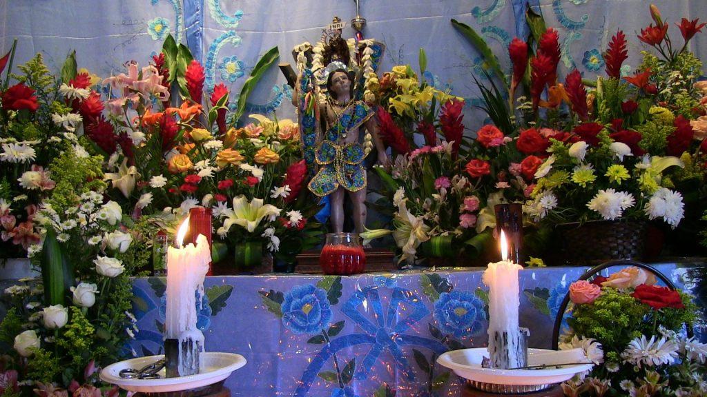 Saint Sebastian chunta altar